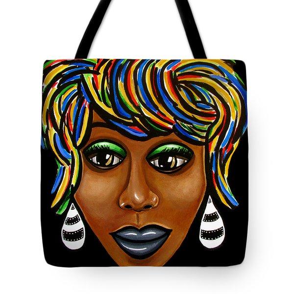 Abstract Art Black Woman Retro Pop Art Painting- Ai P. Nilson Tote Bag