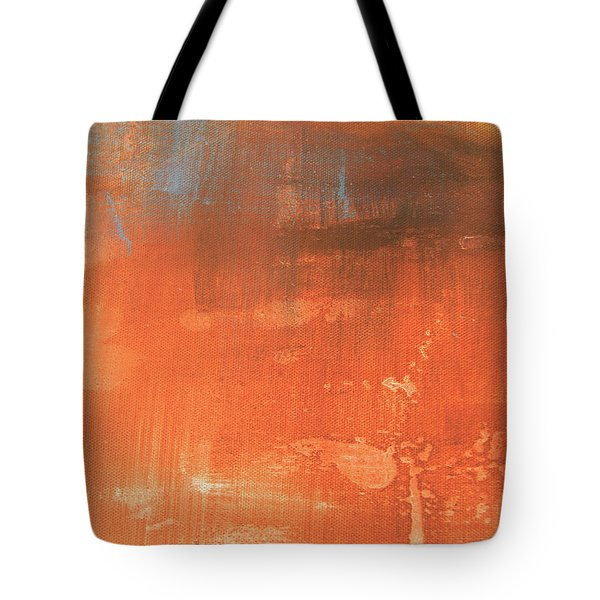 Abstract In Orange Tote Bag
