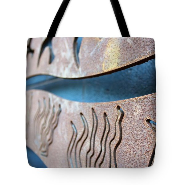 Abstract Lake Patricia Sign 1 Tote Bag