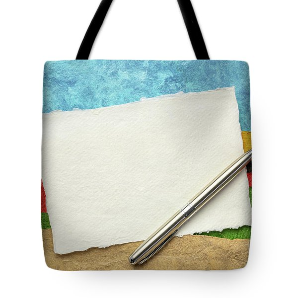 Abstract Landscape With A Blank Note Tote Bag