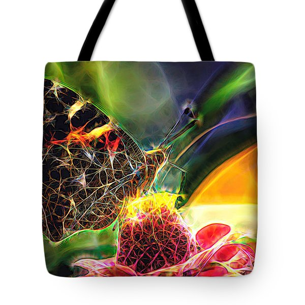 Abstract Painted Lady Butterfly Tote Bag
