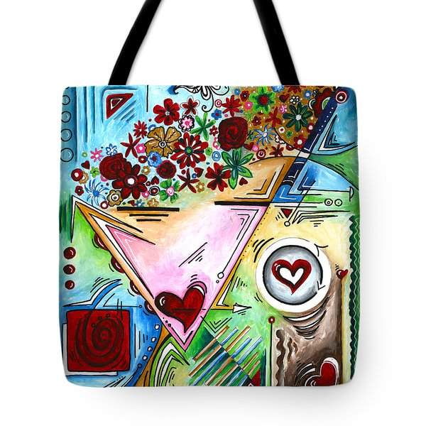 Abstract Pop Art Face Art Original Empowered Painting By Megan Duncanson Tote Bag