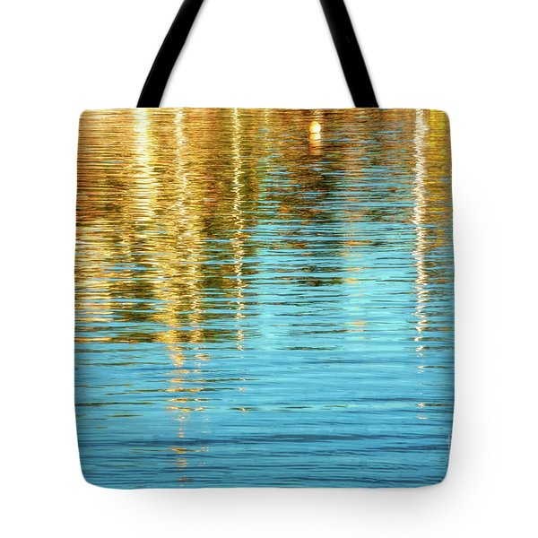 Abstract Reflections In Camden Harbor Maine Tote Bag