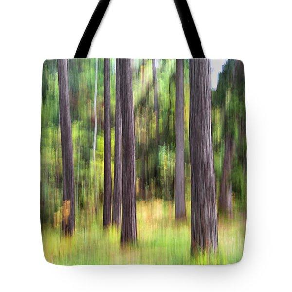 Abstract Wood Tote Bag