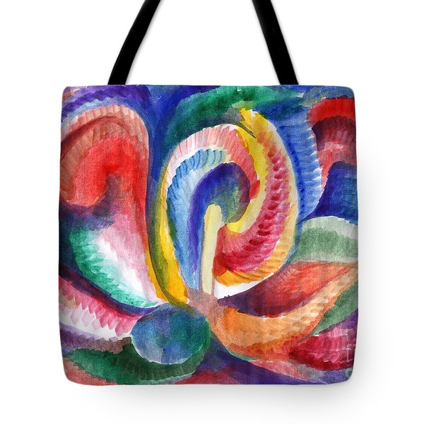 Abstraction Bloom Tote Bag