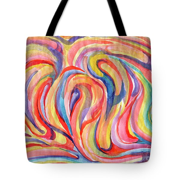 Abstraction In Autumn Colors Tote Bag