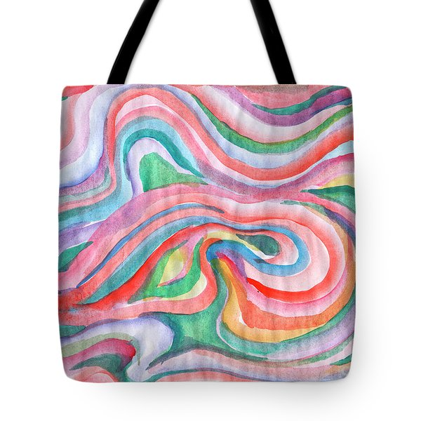 Abstraction In Spring Colors Tote Bag