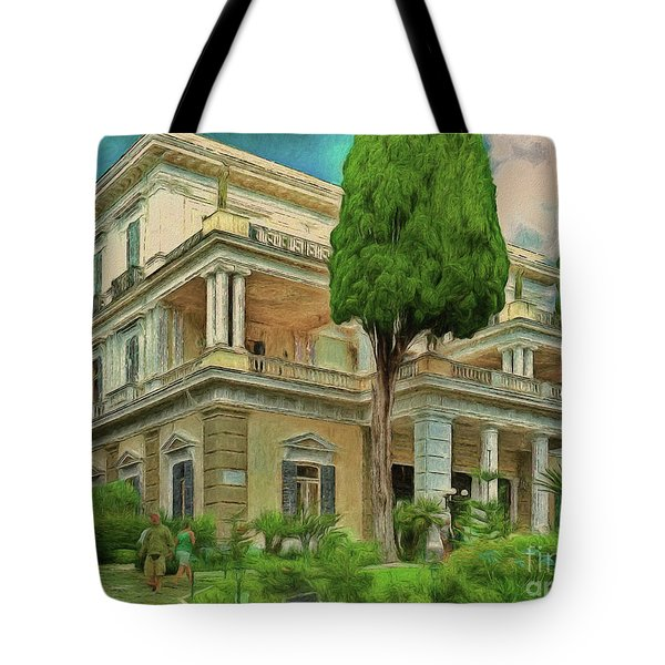 Tote Bag featuring the photograph Achilleion Palace Corfu by Leigh Kemp