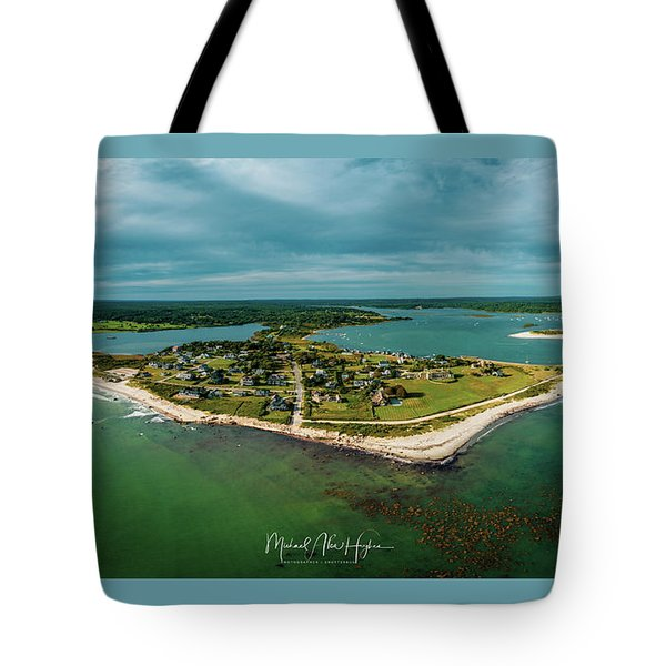 Tote Bag featuring the photograph Acoaxet Life, Westport by Michael Hughes