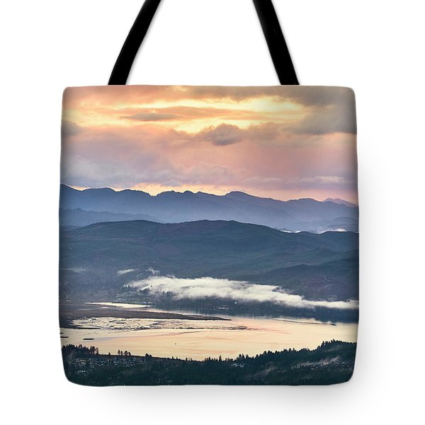 Tote Bag featuring the photograph Across The Bay by Whitney Goodey