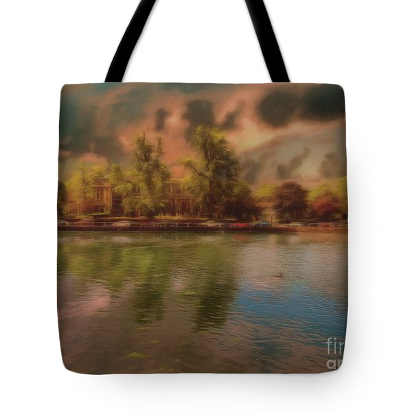 Tote Bag featuring the photograph Across The Water by Leigh Kemp