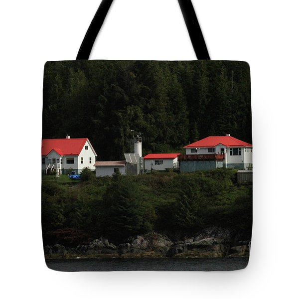 Addenbroke Island Light Station, British Columbia, Inside Passag Tote Bag