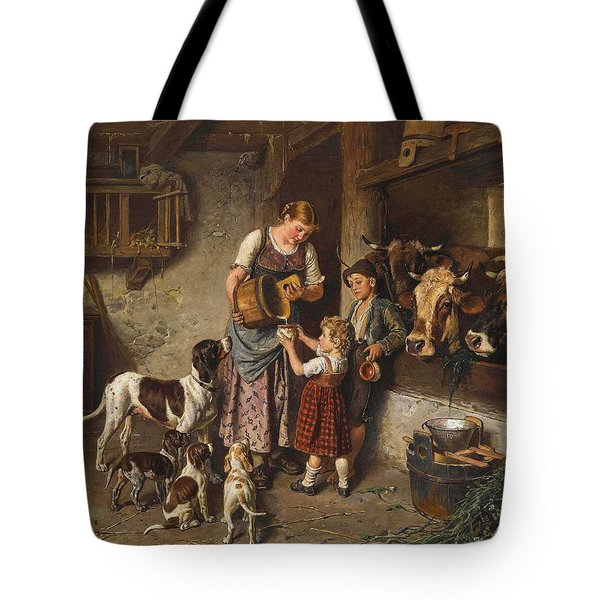 Adolf Eberle, Fresh Milk Tote Bag