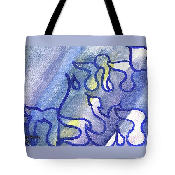 Tote Bag featuring the painting Adonai Hatzlacha  by Hebrewletters Sl