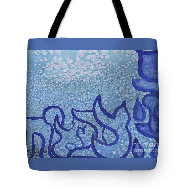 Tote Bag featuring the painting Adonai Tzevaot  by Hebrewletters Sl