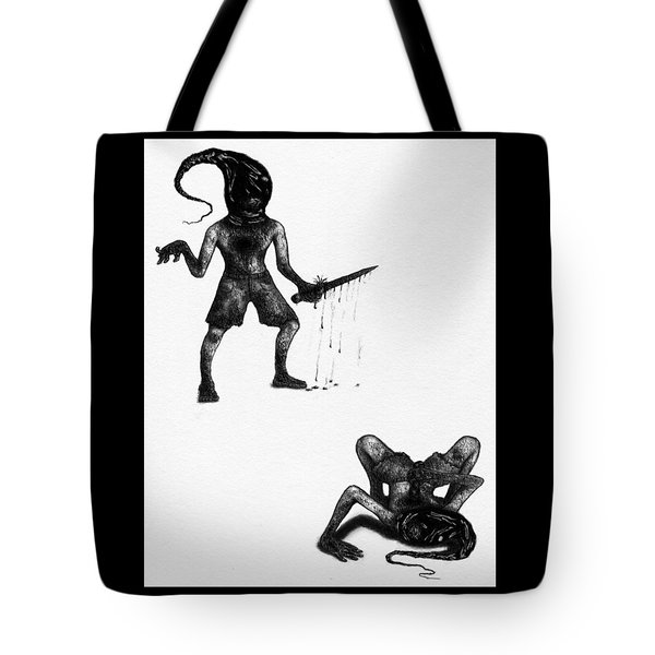 Tote Bag featuring the drawing Adriano The Darkstalker - Artwork by Ryan Nieves