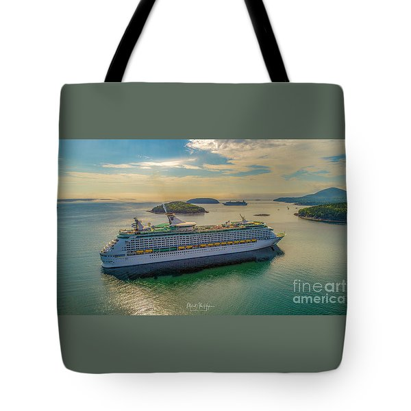 Tote Bag featuring the photograph Adventure Of The Seas, Bar Harbor  by Michael Hughes