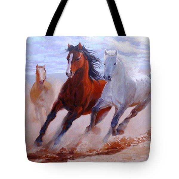 Adventurous Horses Tote Bag