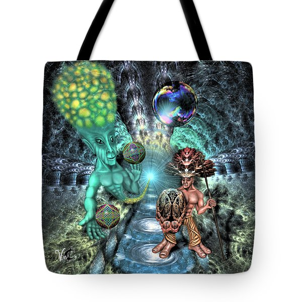 Aethereal Encounter Tote Bag
