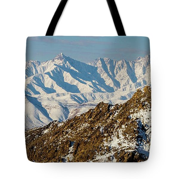 Tote Bag featuring the photograph Afghanistan Hindu Kush Snowy Peaks by SR Green