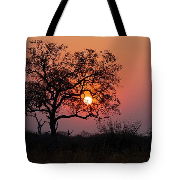 Tote Bag featuring the photograph Africa Sunset by John Rodrigues