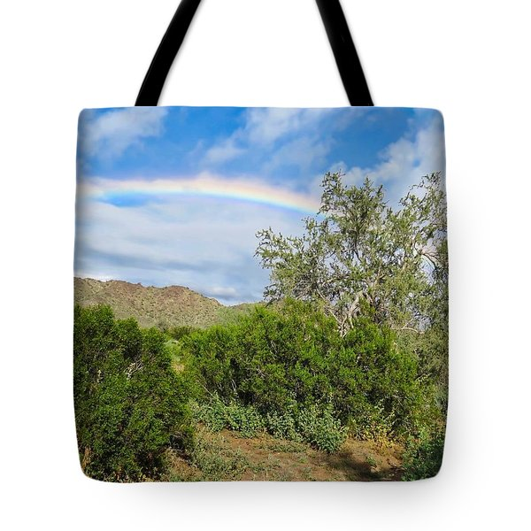 After An Arizona Winter Rain Tote Bag