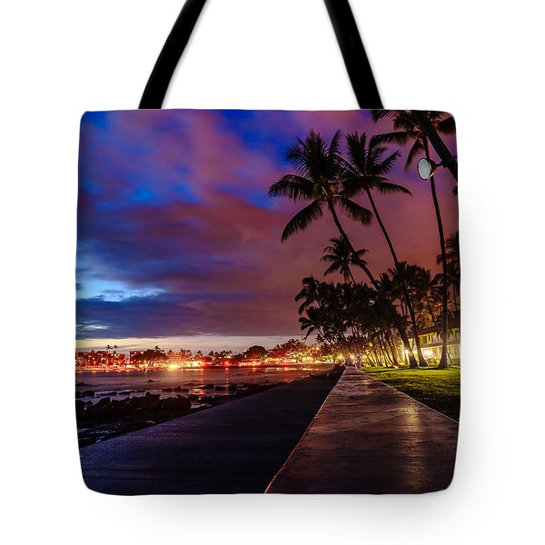 After Sunset At Kona Inn Tote Bag