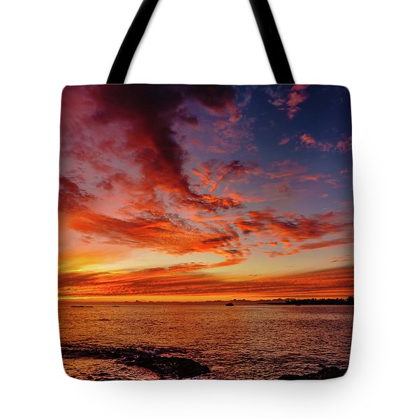 After Sunset Colors At Kailua Bay Tote Bag