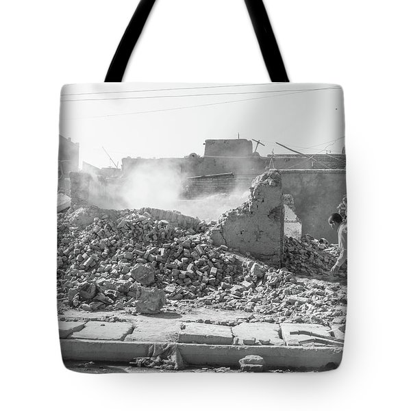 Tote Bag featuring the photograph After The Collapse by SR Green