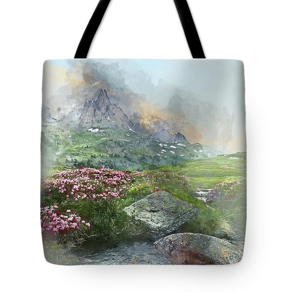 Afternoon Light In The Alps II Tote Bag