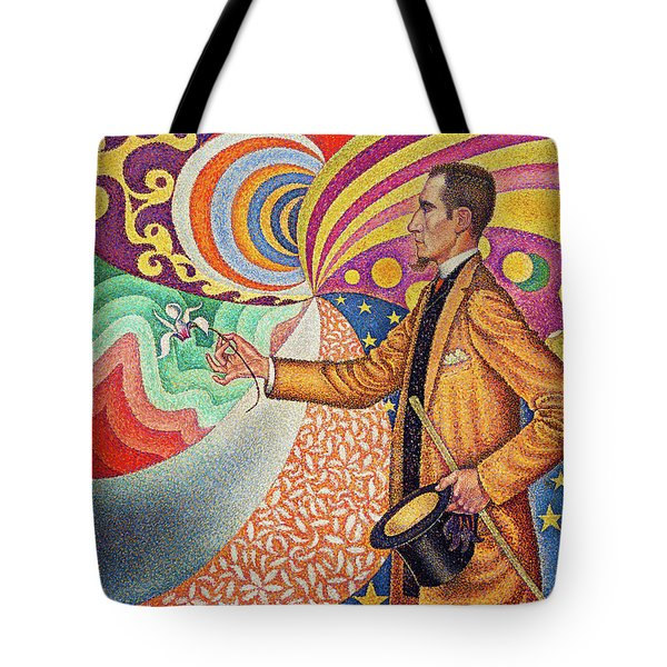 Against The Enamel Of A Background Rhythmic With Beats And Angles, Tones, And Tints Tote Bag