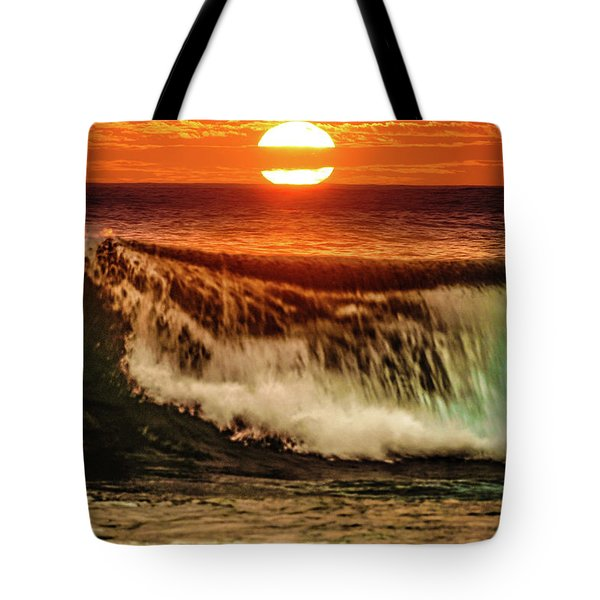 Ahh.. The Sunset Wave Tote Bag