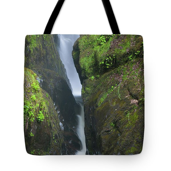 Aira Force Waterfall In The Lake District. England.  Tote Bag