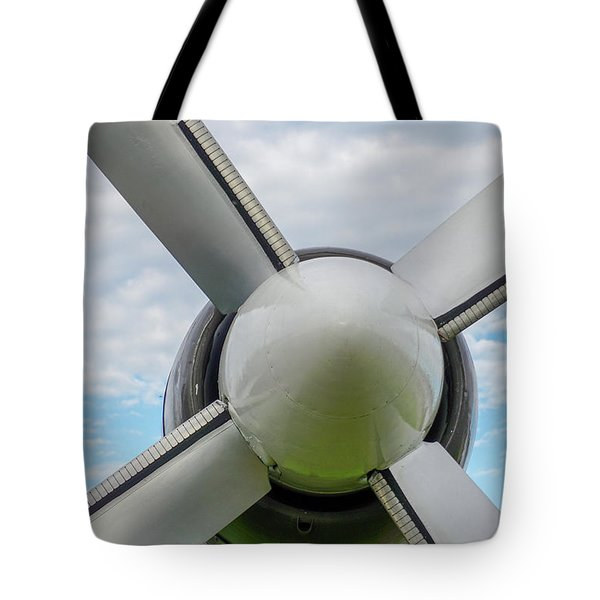Tote Bag featuring the photograph Aircraft Propellers. by Anjo Ten Kate