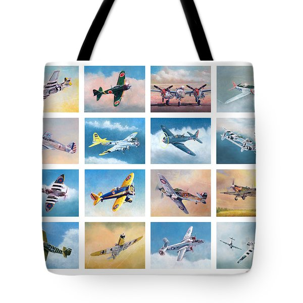 Airplane Poster Tote Bag