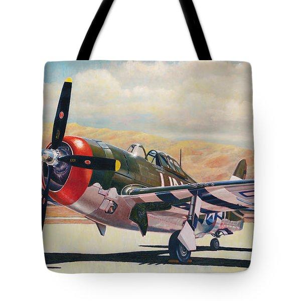 Airshow Thunderbolt Tote Bag