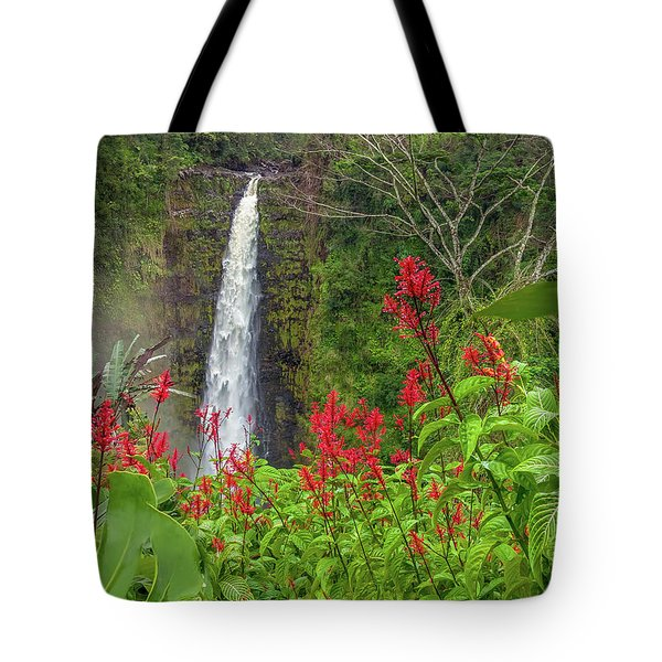 Tote Bag featuring the photograph Akaka In Red by Denise Bird