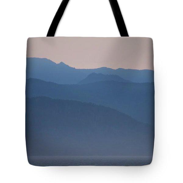 Alaska Inside Passage Mountains Tote Bag