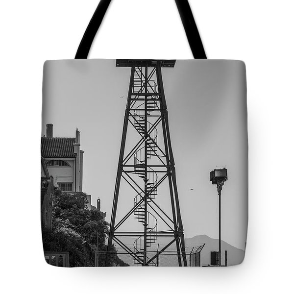 Alcatraz Light House Tote Bag