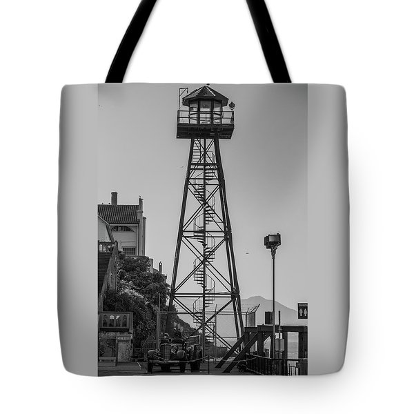 Alcatraz Light House Tote Bag