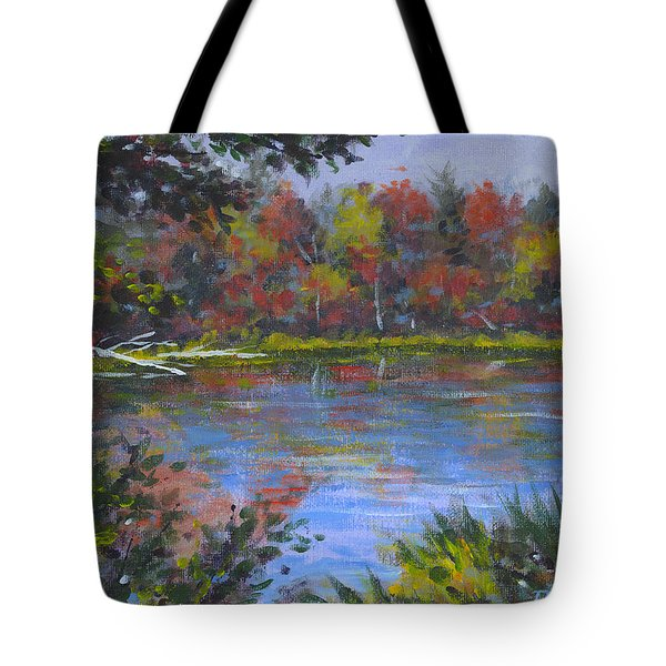 Algonquin Lake Sketch Tote Bag