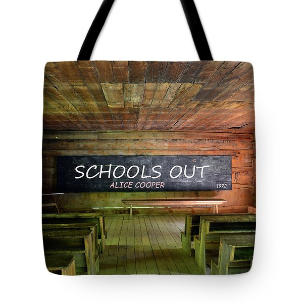 Alice Coopers Schools Out 1972 Tote Bag