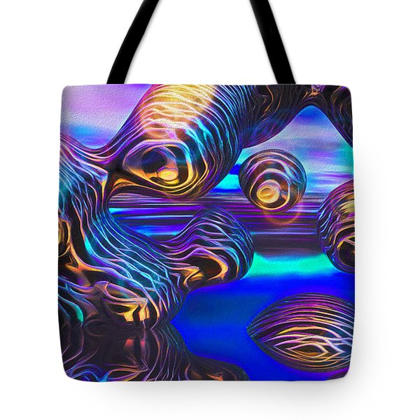 Alien Biometal Blue Tote Bag