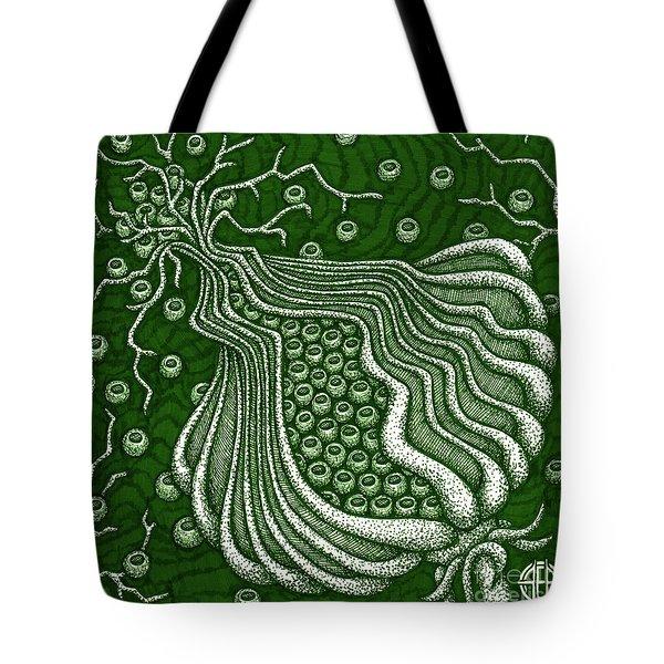 Alien Bloom 5 Tote Bag