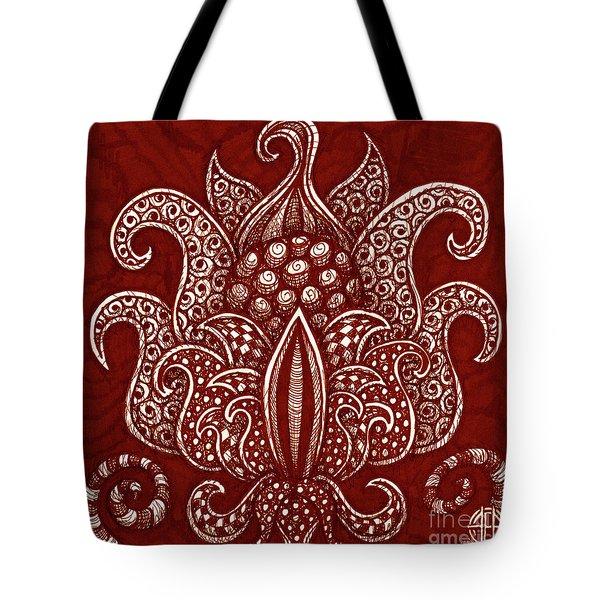 Alien Bloom 8 Tote Bag
