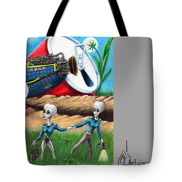 Aliens At Roswell Tote Bag