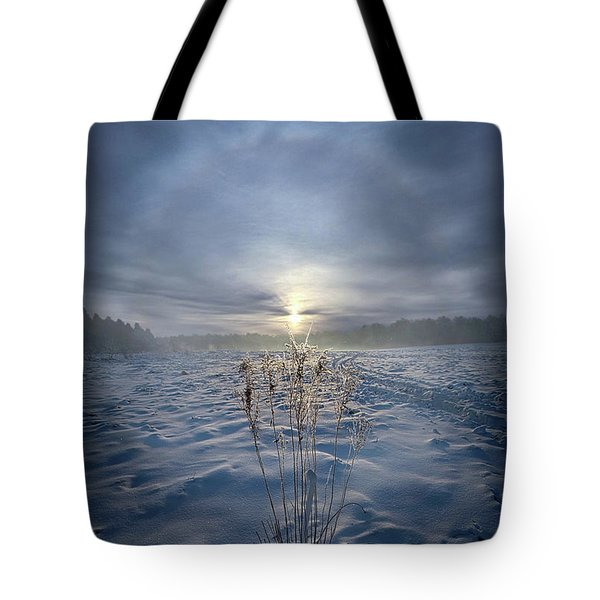 Tote Bag featuring the photograph All Is Blue For A Time by Phil Koch