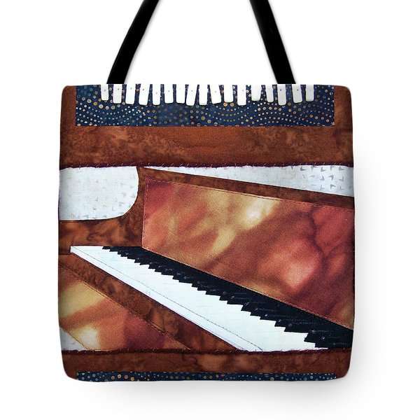 All That Jazz Piano Tote Bag