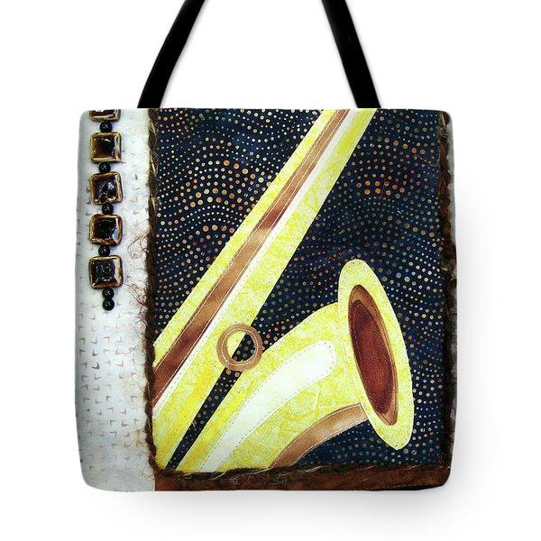 All That Jazz Saxophone Tote Bag