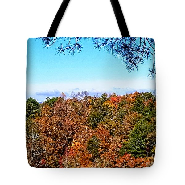 Tote Bag featuring the photograph All The Colors Of Fall by Rachel Hannah